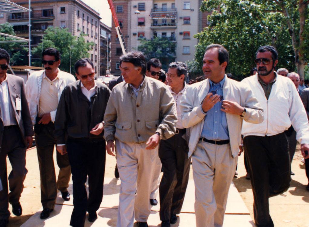 Felipe González y Manuel Chaves