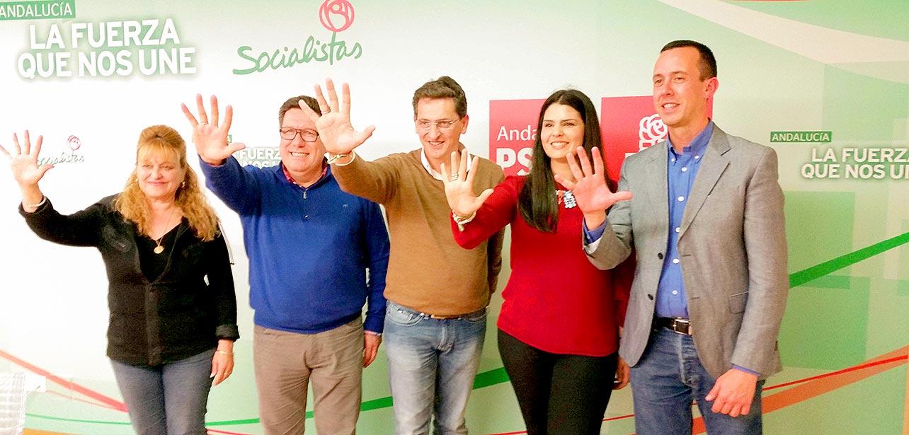 Los 5 parlamentarios por el PSOE de Almería tras las elecciones andaluzas