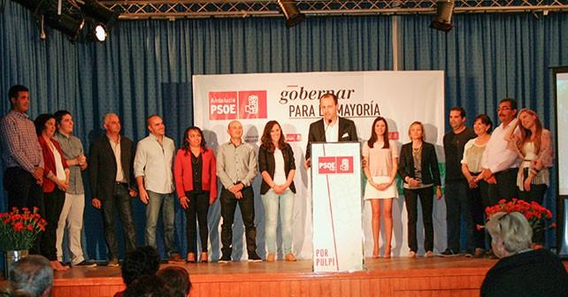Presentación de Ramón Pérez como candidato socialista a la Alcaldía de Pulpí