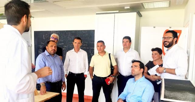 Visita realizada al PITA por el portavoz del Grupo Municipal Socialista en el Ayuntamiento de Almería, Juan Carlos Pérez Navas, junto a miembros de su equipo