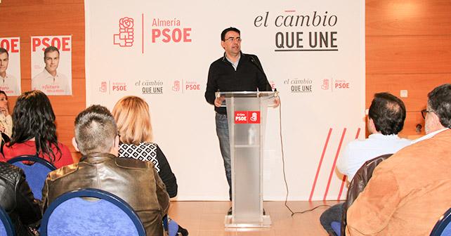 Mario Jiménez aboga por el cambio responsable en un concurrido acto electoral en El Ejido