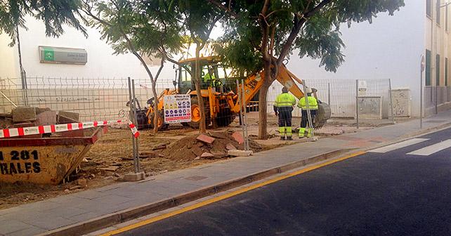 Obras del barrio de la Plaza de Toros de Almería
