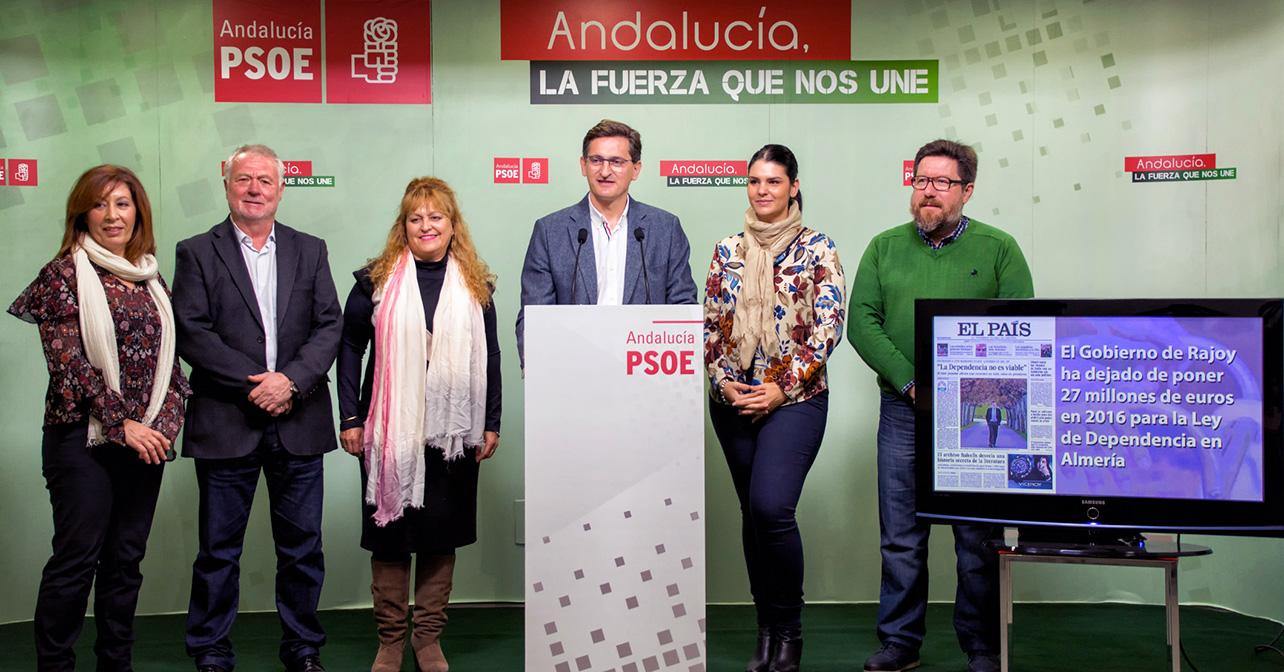 Rueda de prensa del secretario general del PSOE de Almería, José Luis Sánchez Teruel, sobre dependencia