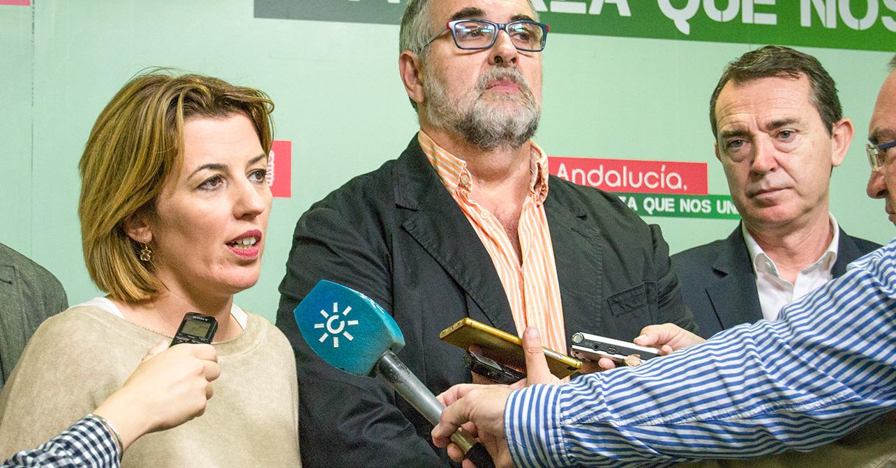 Rueda de prensa sobre la reunión mantenida entre el PSOE de Almería y la Mesa del Ferrocarril