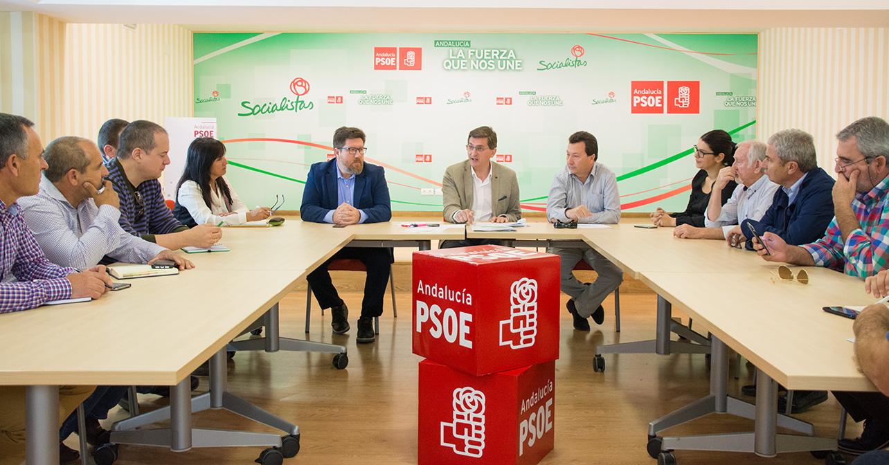 Reunión mantenida por el PSOE de Almería y representantes de la Mesa del Agua