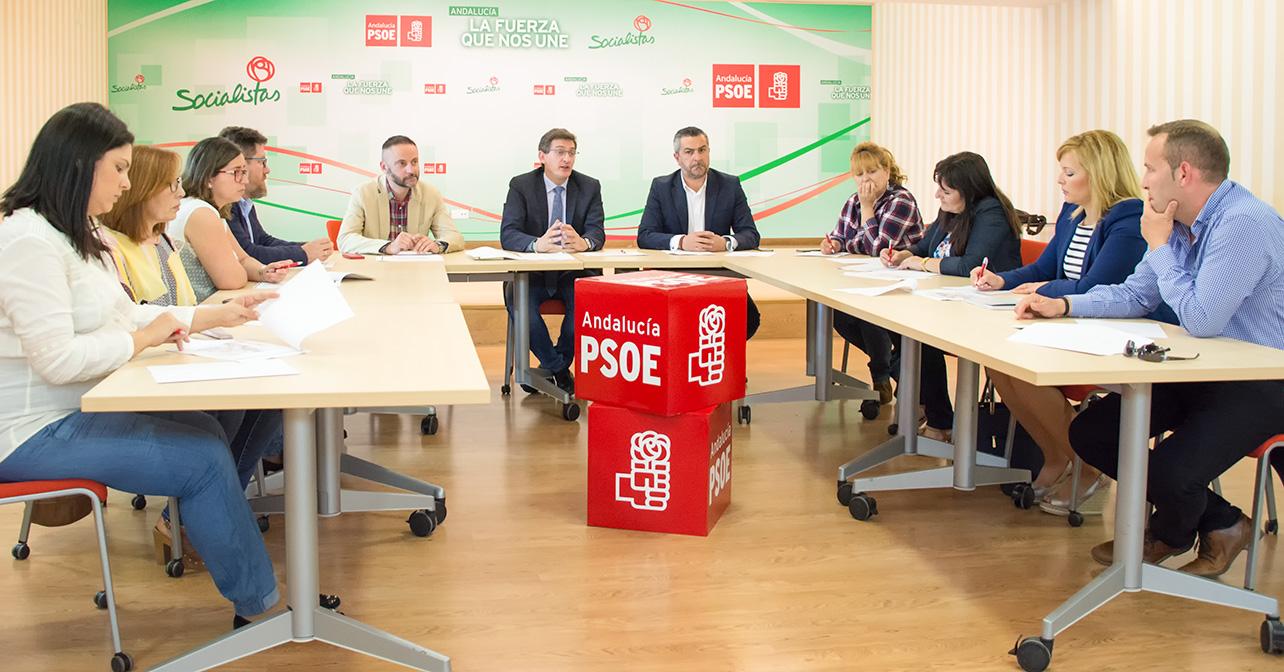 Reunión del PSOE de Almería sobre la línea eléctrica Vera-Baza