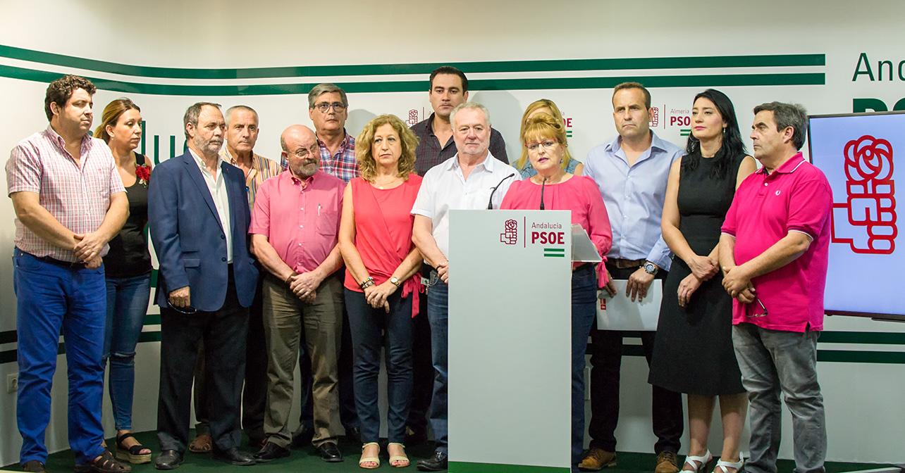 Rueda de prensa sobre financiación municipal que ha ofrecido el PSOE de Almería