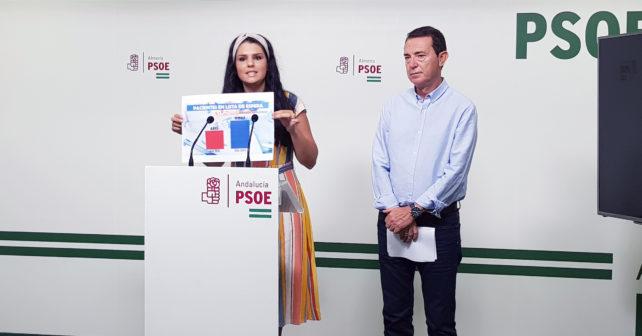 190812 Foto PSOE Noemí Cruz y Juan Carlos Perez Navas hoy en rueda de prensa